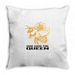 god save the queen 'bee' Throw Pillow | Artistshot