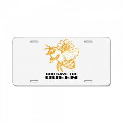 god save the queen 'bee' License Plate | Artistshot