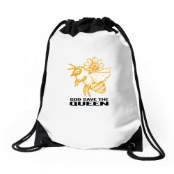 god save the queen 'bee' Drawstring Bags | Artistshot