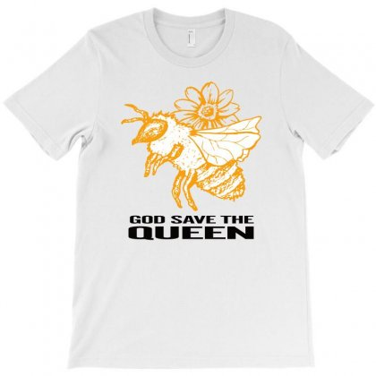 God Save The Queen 'bee' T-shirt Designed By Alparslan