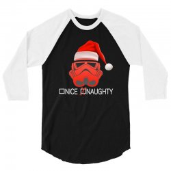 star wars naughty stormtrooper christmas 3/4 Sleeve Shirt | Artistshot