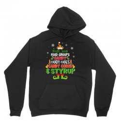 four main food groups elf christmas Unisex Hoodie | Artistshot