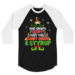 four main food groups elf christmas 3/4 Sleeve Shirt | Artistshot