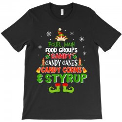 four main food groups elf christmas T-Shirt | Artistshot