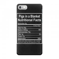 funny pigs in a blanket nutritional facts christmas iPhone 7 Case | Artistshot