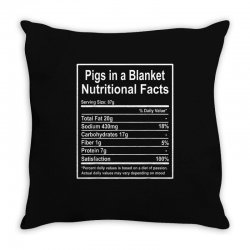funny pigs in a blanket nutritional facts christmas Throw Pillow | Artistshot