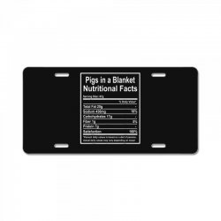 funny pigs in a blanket nutritional facts christmas License Plate | Artistshot
