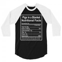funny pigs in a blanket nutritional facts christmas 3/4 Sleeve Shirt | Artistshot