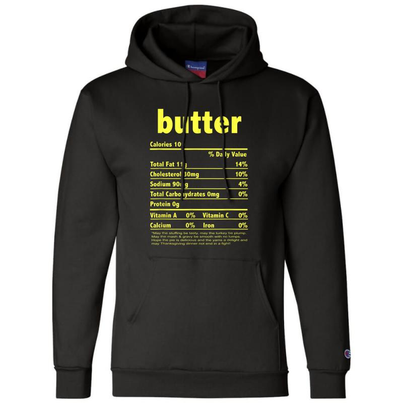 Funny Thanksgiving Butter Nutritional Facts Family Champion Hoodie | Artistshot