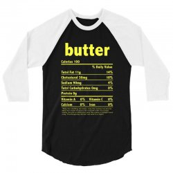 funny thanksgiving butter nutritional facts family 3/4 Sleeve Shirt | Artistshot