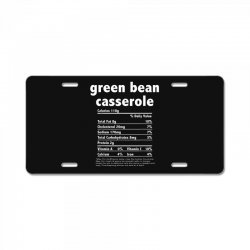 funny thanksgiving green bean casse nutritional facts License Plate | Artistshot