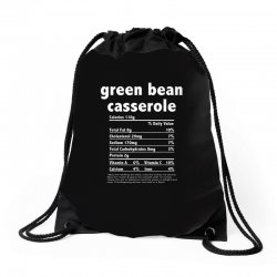 funny thanksgiving green bean casse nutritional facts Drawstring Bags | Artistshot