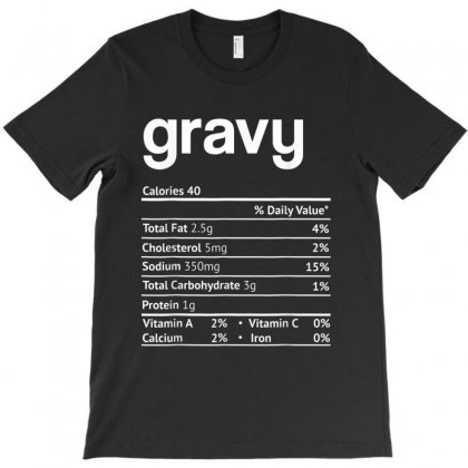 Gravy Nutrition Facts Funny Thanksgiving Christmas T-shirt Designed By Kakashop