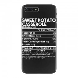 sweet potato casserole nutrition facts funny thanksgiving iPhone 7 Plus Case | Artistshot