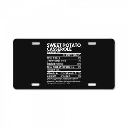 sweet potato casserole nutrition facts funny thanksgiving License Plate | Artistshot