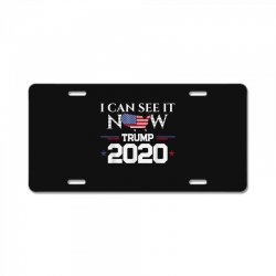 trump re election 2020 see it now License Plate | Artistshot