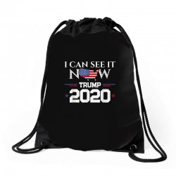 trump re election 2020 see it now Drawstring Bags   Artistshot
