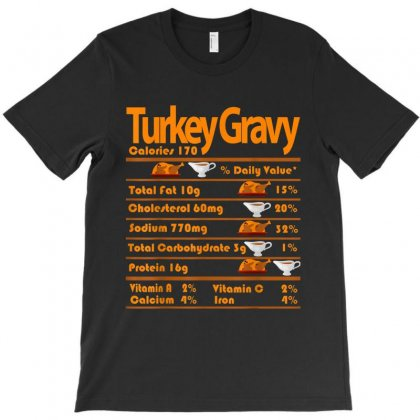 Turkey Gravy Nutrition Facts Funny Thanksgiving T-shirt Designed By Kakashop