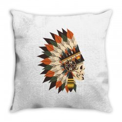 Indian skull Throw Pillow | Artistshot