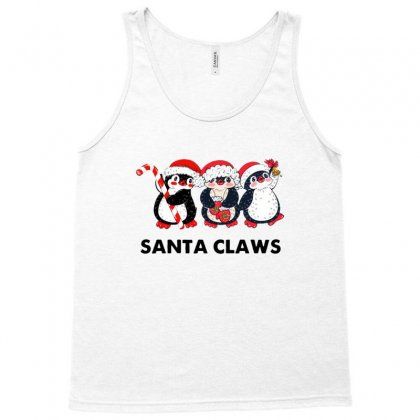Penguin Santa Christmas Tank Top Designed By Sr88