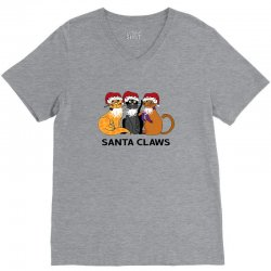 funny santa claws christmas gift for cat lovers V-Neck Tee | Artistshot