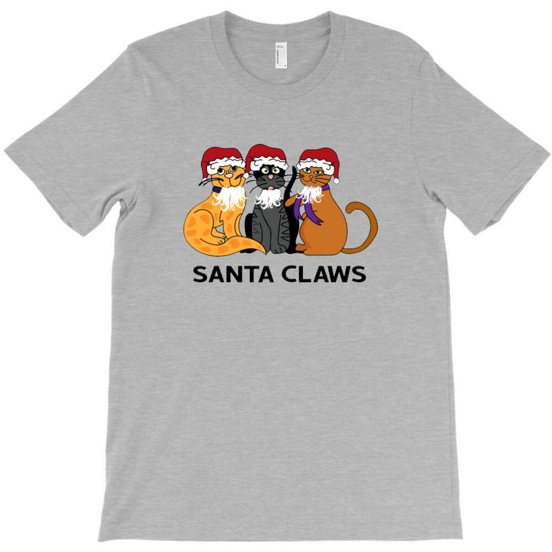 Funny Santa Claws Christmas Gift For Cat Lovers T-shirt | Artistshot