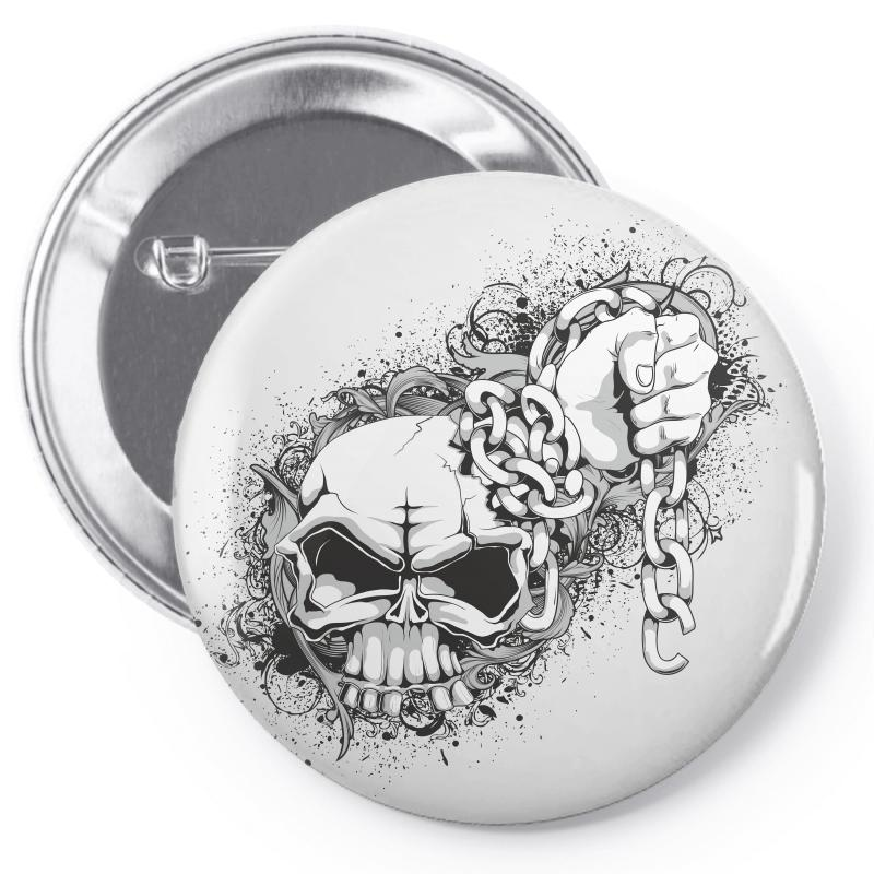 Skull Pin-back Button | Artistshot
