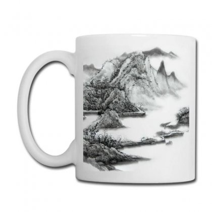 Ink Wash Painting Mountain Rolling Mountains Coffee Mug Designed By Salmanaz
