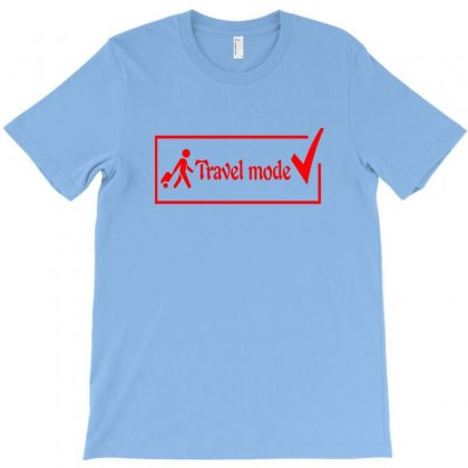 Travel Mode Red Print Design T-shirt Designed By Aranim Graphics