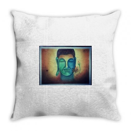 Lord Buddha Throw Pillow Designed By Bharat