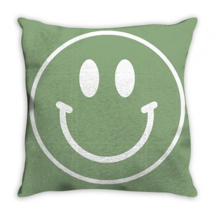 Happy Throw Pillow Designed By Tasha