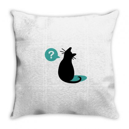 Black Cat (2) Throw Pillow Designed By Moneyfuture17