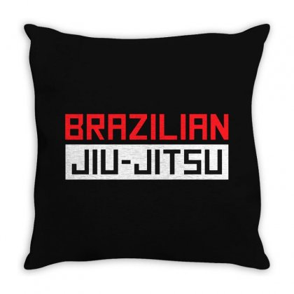 Barazilian Jiu Jitsu Throw Pillow Designed By Creative Tees