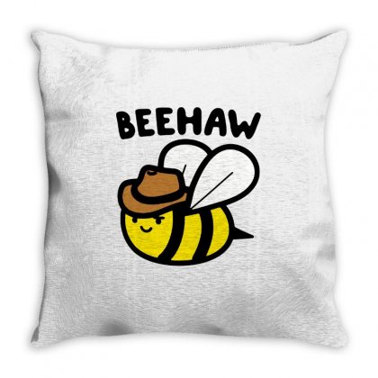 Beehaw Cowboy Bee Throw Pillow Designed By Creative Tees