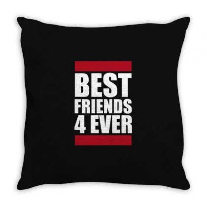 Best Friends 4 Ever Throw Pillow Designed By Creative Tees