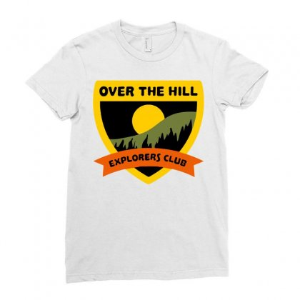 Over The Hill Explorers Ladies Fitted T-shirt Designed By Milaart