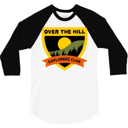 Over The Hill Explorers 3/4 Sleeve Shirt Designed By Milaart