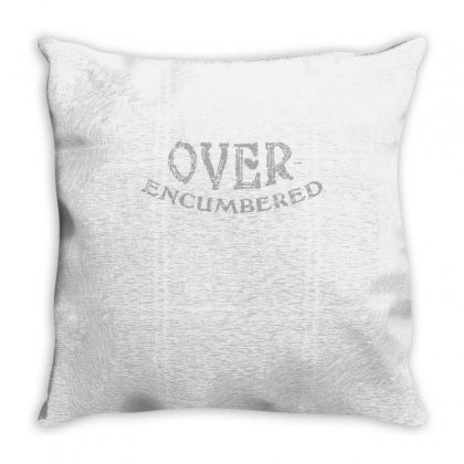 Over Encumbered Throw Pillow Designed By Milaart