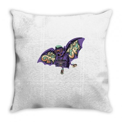 Party Bat Throw Pillow Designed By Milaart