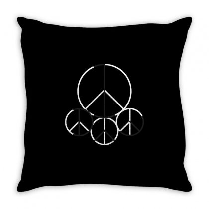 Peace 1 Day Throw Pillow Designed By Milaart