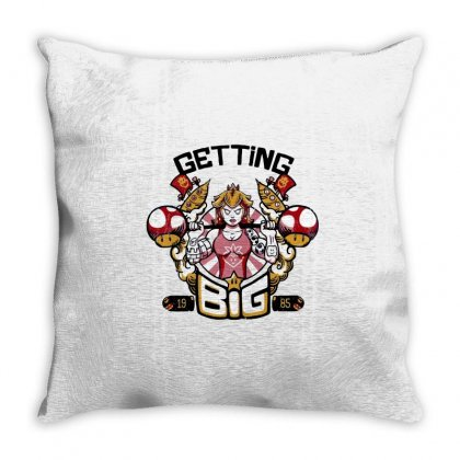 Peach's Gym Throw Pillow Designed By Milaart