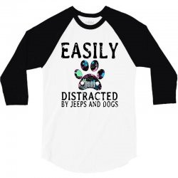easily distracted by jeeps and dogs 3/4 Sleeve Shirt | Artistshot