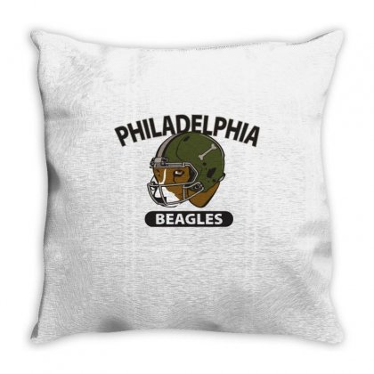 Philadelphia Beagles Throw Pillow Designed By Milaart