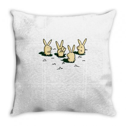 Phony Bunny Throw Pillow Designed By Milaart