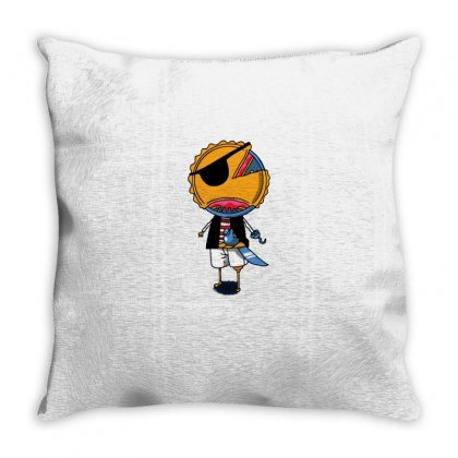 Pierate Throw Pillow Designed By Milaart