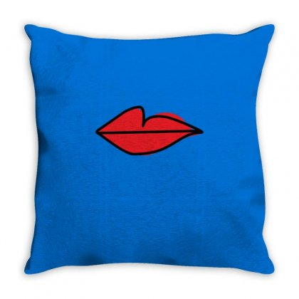Red Lips As Seen On Villanelle  Killing Eve S2 Relaxed Throw Pillow Designed By Artwoman