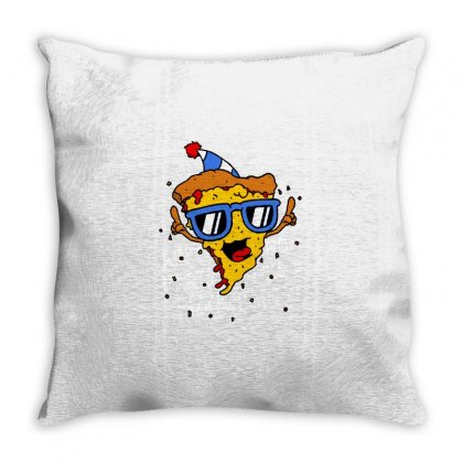 Pizza Party Throw Pillow Designed By Milaart
