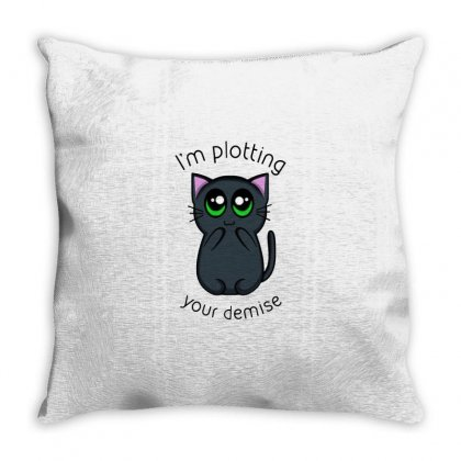 Plotting Your Demise Throw Pillow Designed By Milaart