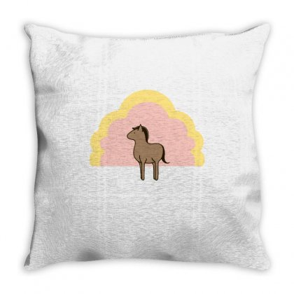Plump Horse Throw Pillow Designed By Milaart