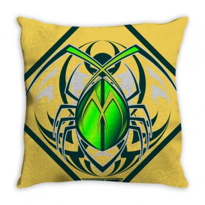 Greeny Bugs Art Throw Pillow Designed By Tsdesign